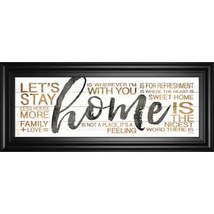 """Home"" By Marla Rae Framed Print Wall Art"