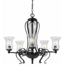 60W X 5 Metal 5 Light Chandelier (Edison Bulbs Not included)
