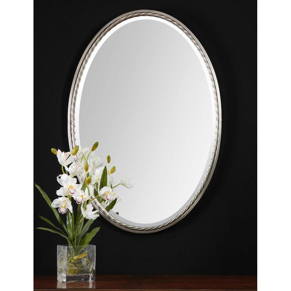 See Details - Casalina Nickel Oval Mirror