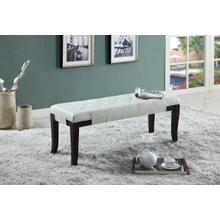 Product Image - Linon White Leather Tufted Ottoman Bench