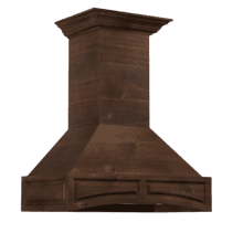 ZLINE 42 in. Wooden Wall Mount Range Hood in Walnut - Includes Remote Motor