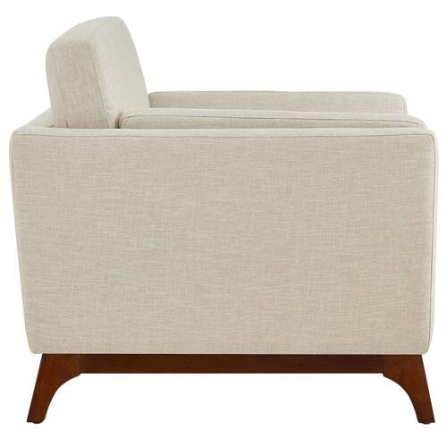 Chance Upholstered Fabric Armchair in Beige