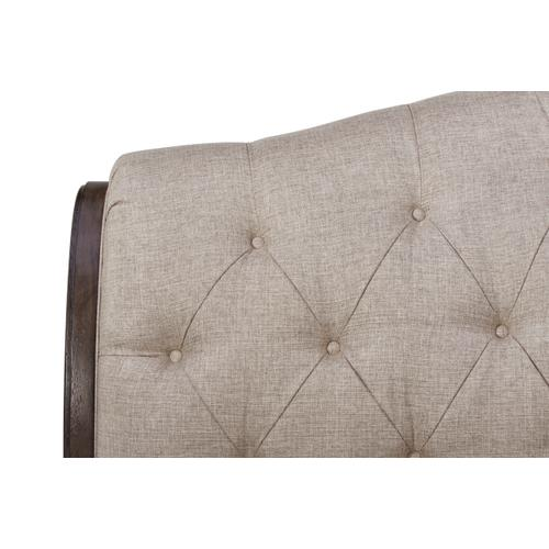 A.R.T. Furniture - Vintage Salvage Queen Lanza Upholstered Tufted Bed