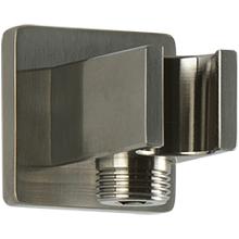 SQU Shower Outlet Elbow With Handshower Holder Brushed Nickel