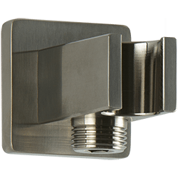 SQU Shower Outlet Elbow With Handshower Holder Brushed Nickel Product Image