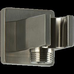 SQU Shower Outlet Elbow With Handshower Holder Brushed Nickel Product Image