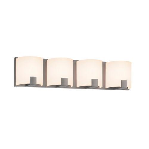 Sonneman - A Way of Light - C-Shell LED Bath Bar [Size=4-Light, Color/Finish=Satin Nickel]
