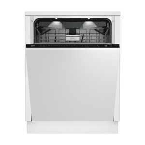 BekoTall Tub Dishwasher, 16 place settings, 39 dBa, Fully Integrated Panel Ready
