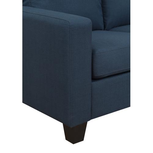Nix Reversible Chaise Sectional, Marine Blue U4191-09-04