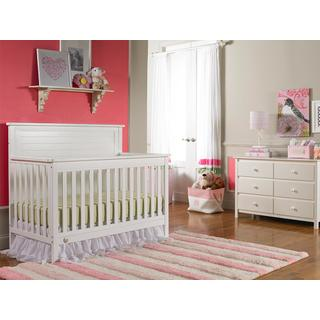Fisher-Price Quinn Convertible Crib, Snow White