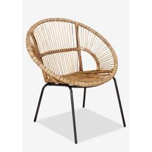 See Details - Round Rattan Chair with Metal Legs