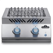 Built-in 700 Series Dual Range Top Burner with Stainless Steel Cover , Stainless Steel , Natural Gas