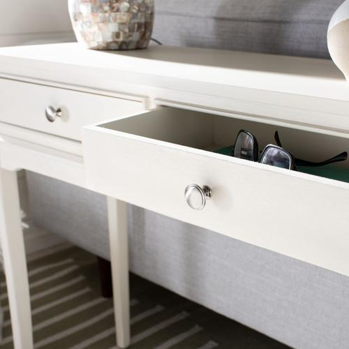 Safavieh - Opal 2 Drawer Console Table - Distressed White