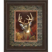 """""""Deer Portrait"""" Double Matted Framed Print Wall Art"""