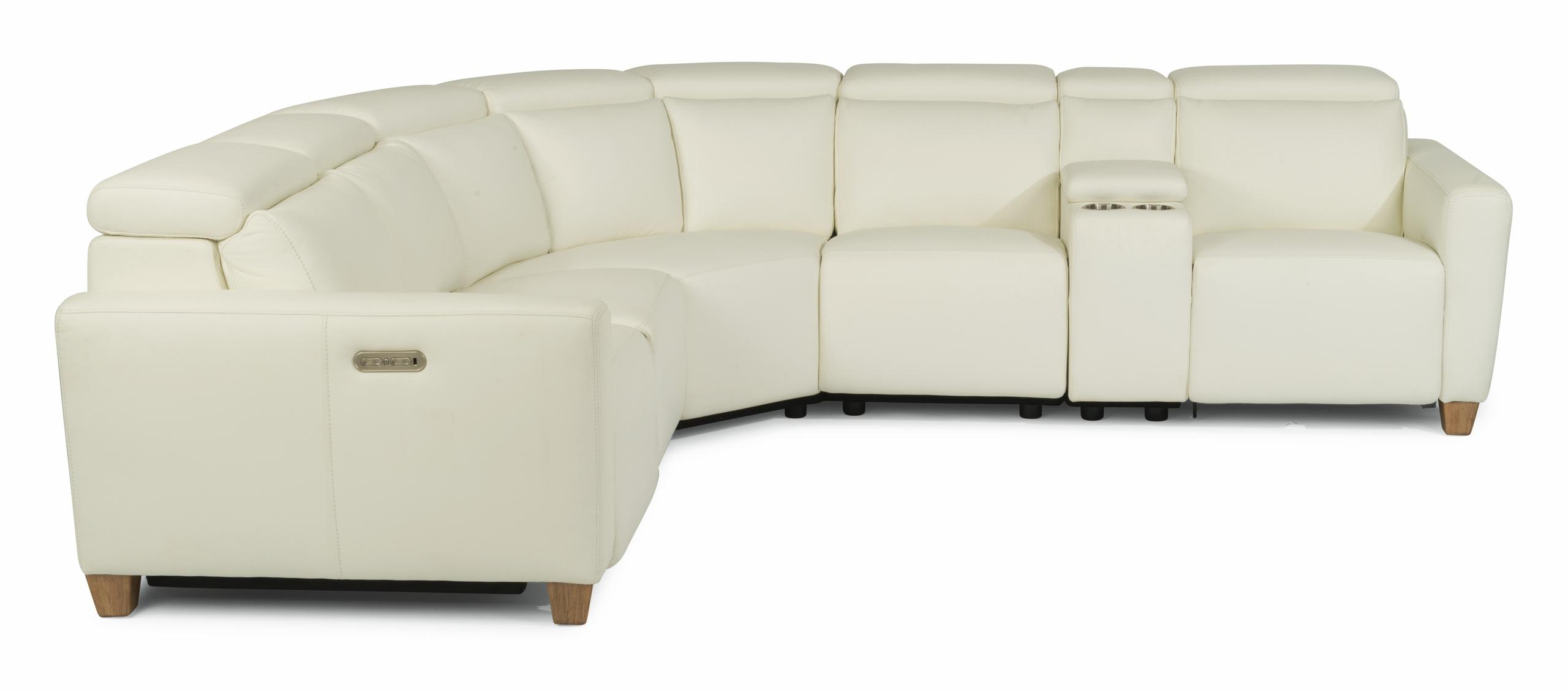 FlexsteelAstra Power Reclining Sectional With Power Headrests