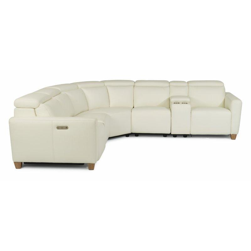 Astra Power Reclining Sectional with Power Headrests