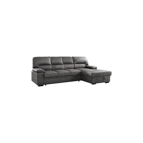 2-Piece Sectional with Pull-out Bed and Left Chaise with Hidden Storage