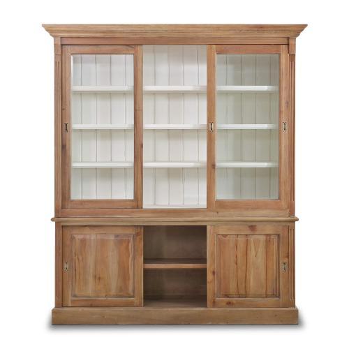 Hudson 88'' Bookcase w/ 3 Sliding Doors