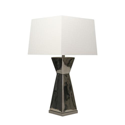 "Sagebrook Home - Sagebrook Home Ceramic 34"" Hourglass Table Lamp, Silver# 50203"