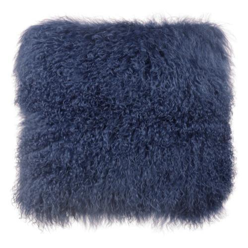 Tov Furniture - Tibetan Sheep Large Blue Pillow