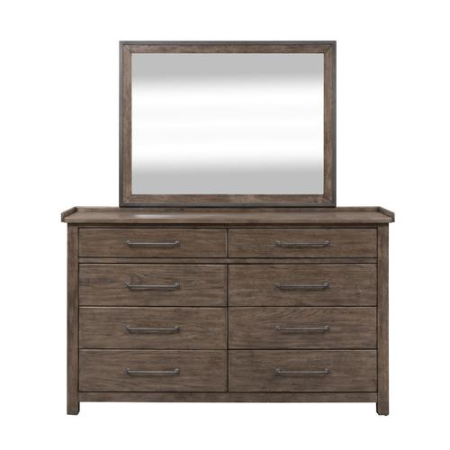 King Canopy Bed, Dresser & Mirror