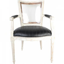 Marie-Antoinette Black Arm Chair