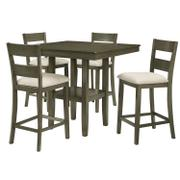 Loft Counter Height Table with Four Chairs Set, Grey Product Image
