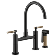 Bridge Faucet With Arc Spout and Knurled Handle