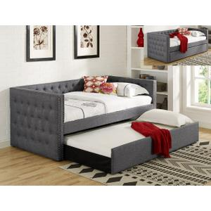 Trina Grey Daybed Back+ Side Rail