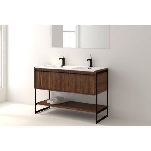 Floor-mount vanity
