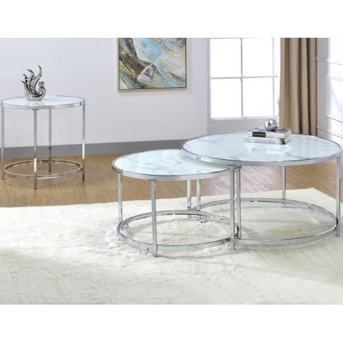 Rayne End Table, White