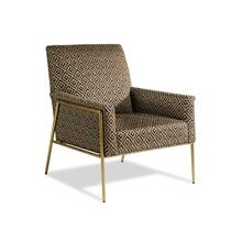 Rice Aged Brass Chair