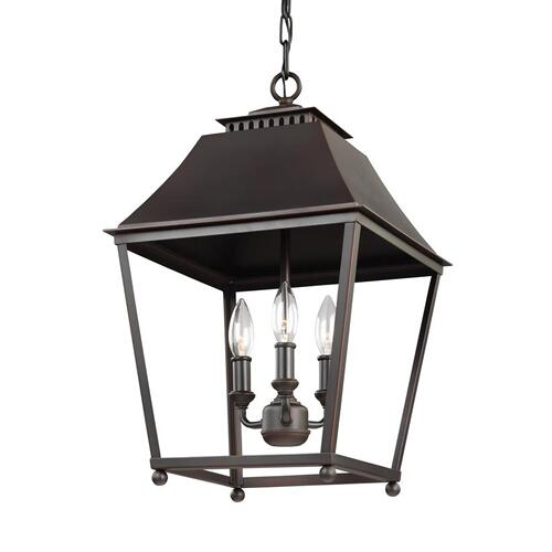 Galloway Medium Lantern Dark Antique Copper / Antique Copper