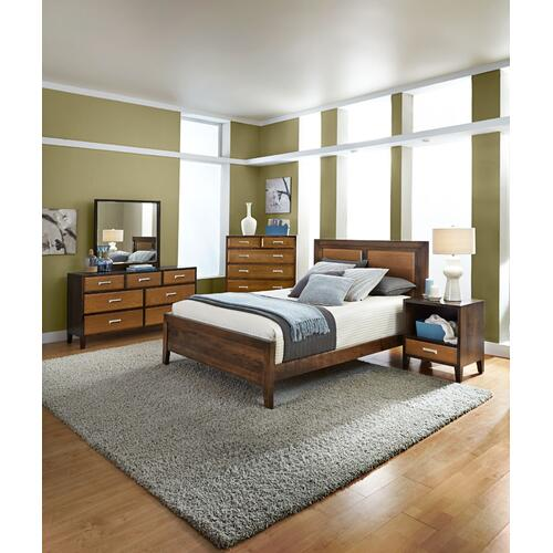 Beaumont Panel Bed, Beaumont Panel Headboard with Wood Frame, Queen