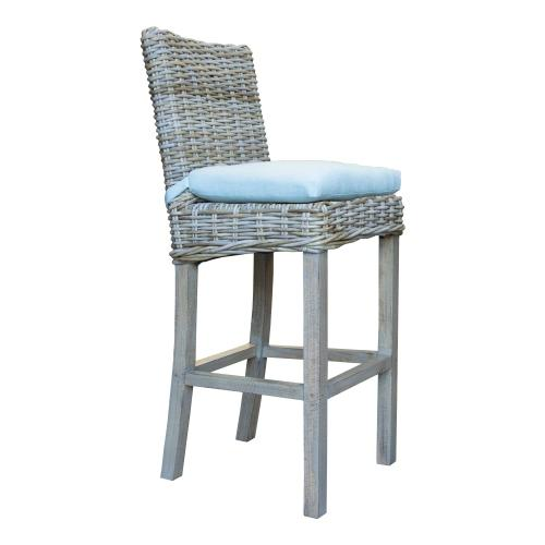 30'' Bar Stool, Available in Grey Wash or Royal Oak Finish.