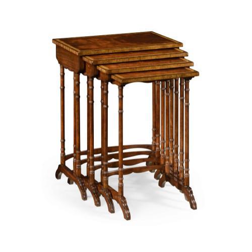 Regency mahogany nest of tables
