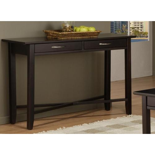 - Demilune Rectangle Sofa Table With 2 Drawers