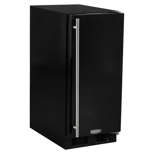 15-In Built-In All Refrigerator with Door Style - Black, Door Swing - Right