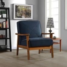 Emerald Home Wooden Arm Chair Navy