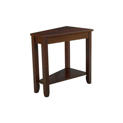 WEDGE CHAIRSIDE TABLE-CHERRY