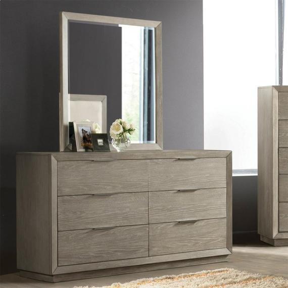 Riverside - Zoey - Six Drawer Dresser - Urban Gray Finish