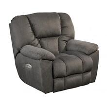 Power Headrest Power Lay Flat Recliner-STEEL