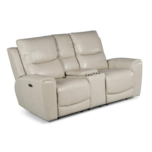Laurel Pwr-Pwr Console Loveseat,Ivory