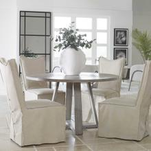 See Details - Delroy Armless Chair, Stone Ivory, 2 Per Box