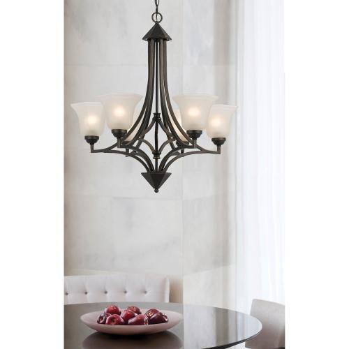 60W X 6 Metal 6 Light Chandelier