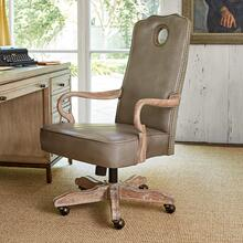 See Details - Queen Anne Desk Chair - Oak