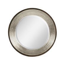 See Details - Contemporary Circular Silver Espresso Recessed Mirror