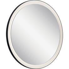 Ryame Round Lighted Mirror Black