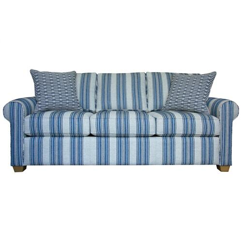 3 Encased fiber filled back pillows over 3 Convo-Lux seat cushions.