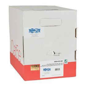Cat5e 350 MHz Solid-Core Plenum-Rated (UTP) PVC Bulk Ethernet Cable - White, 1000 ft.